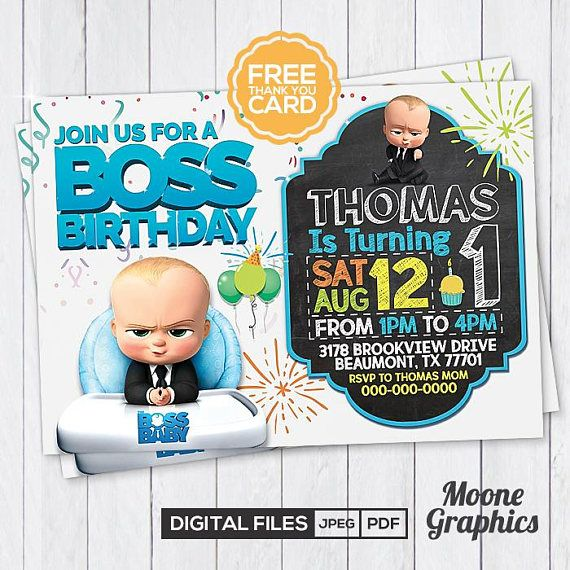 Baby Boss Invitation  Baby Boss Party  Baby Boss Birthday