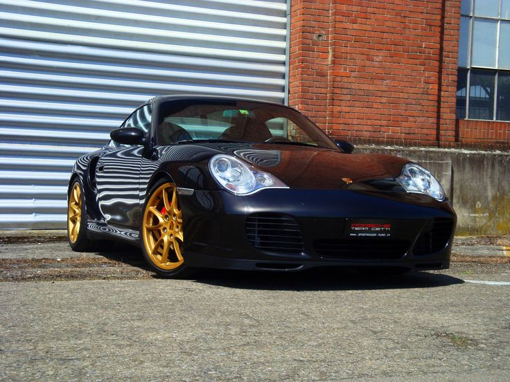 Porsche 996 turbo gold rims www.asautoparts.com