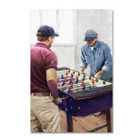 Trademark Fine Art 'Table Football' Canvas Art by The Macneil Studio, Size: 12 x 19, Multicolor