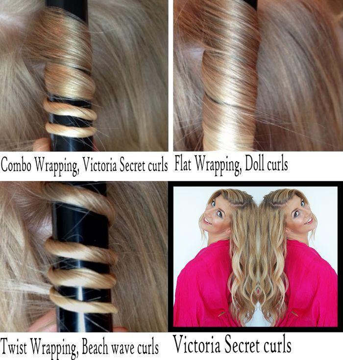 Different ways to wrap your hair around a curling wand to ...