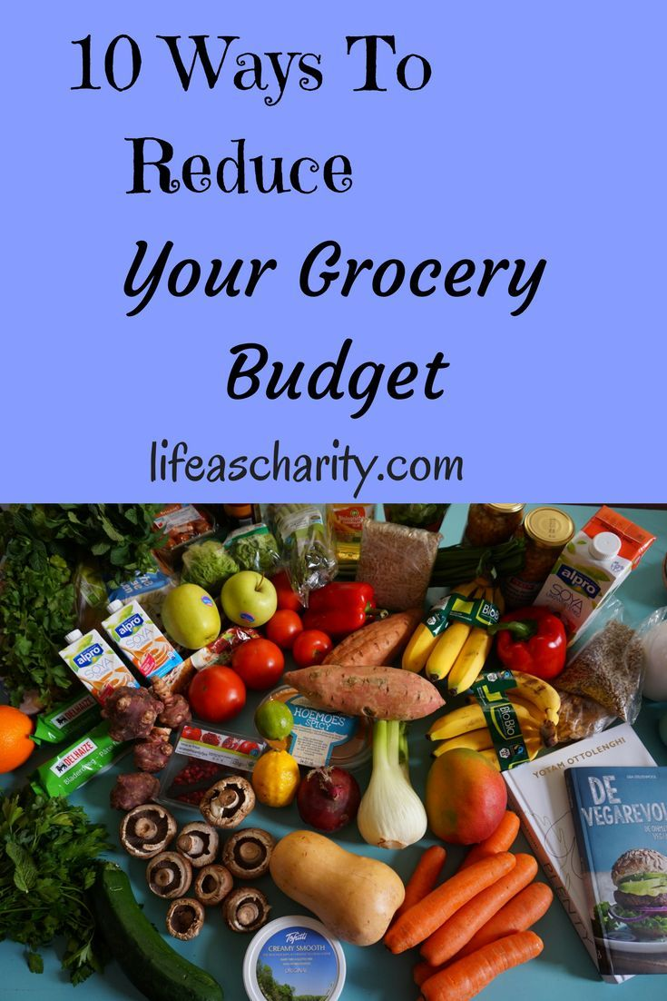 Here are 10 ways to reduce your grocery budget.  No coupon clipping involved!  #frugalliving #budget #saving