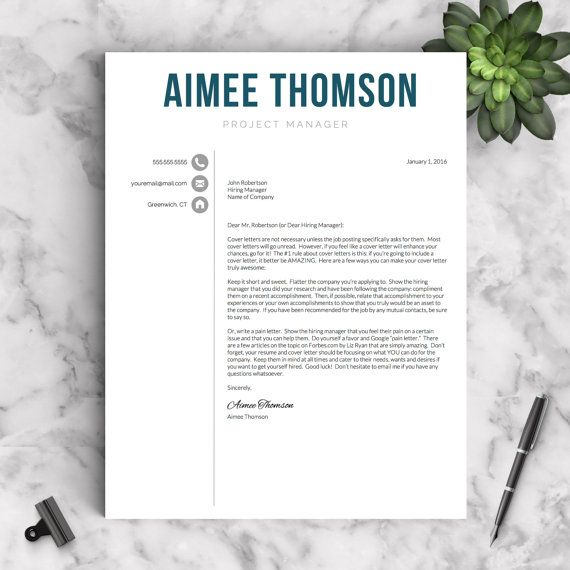 Creative Resume Template For Word U0026 Pages 1 2 And 3 Page  Resume Template Pages