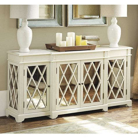 Lyon Mirrored Sideboard The White White Lamps And Entryway