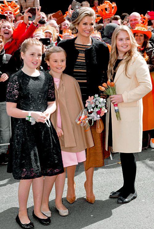 Koningsdag 2017: The Royal Family attend the King's 50th birthday celebrations in Tilburg, Netherlands.