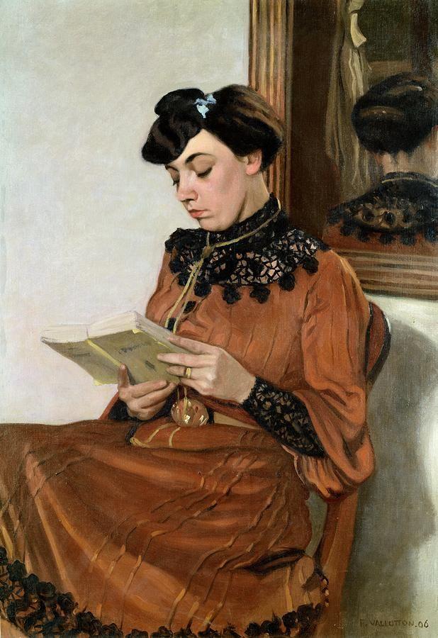Woman Reading. Félix Edouard Vallotton (Swiss, 1865–1925).