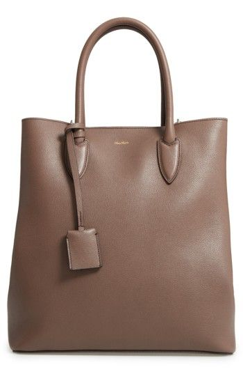 Free shipping and returns on Max Mara Pebbled Leather Shopper at Nordstrom.com. Snap side gussets expand the space in a pebbled leather shopper with a low-key—yet luxe—sensibility. Detailed with reinforced top handles and an optional, adjustable shoulder strap, this is a perfect bag for everyday carry.