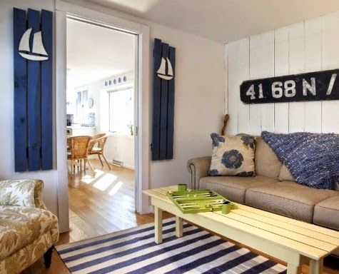 Charming Nautical Shutters... http://www.completely-coastal.com/2014/09/interior-decorating-with-shutters.html