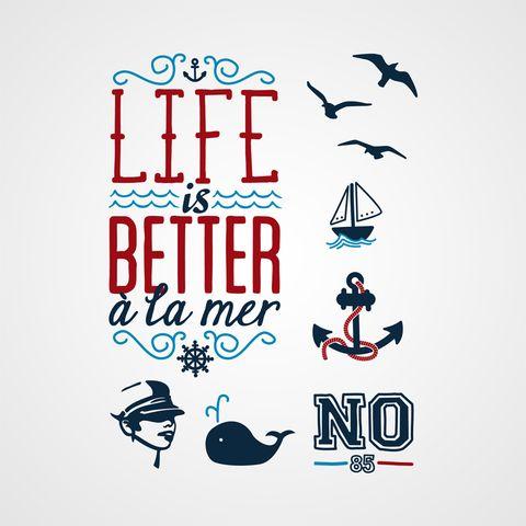 Mauvais garçon - Tatouage temporaire Bernard Forever - Life is better a la mer