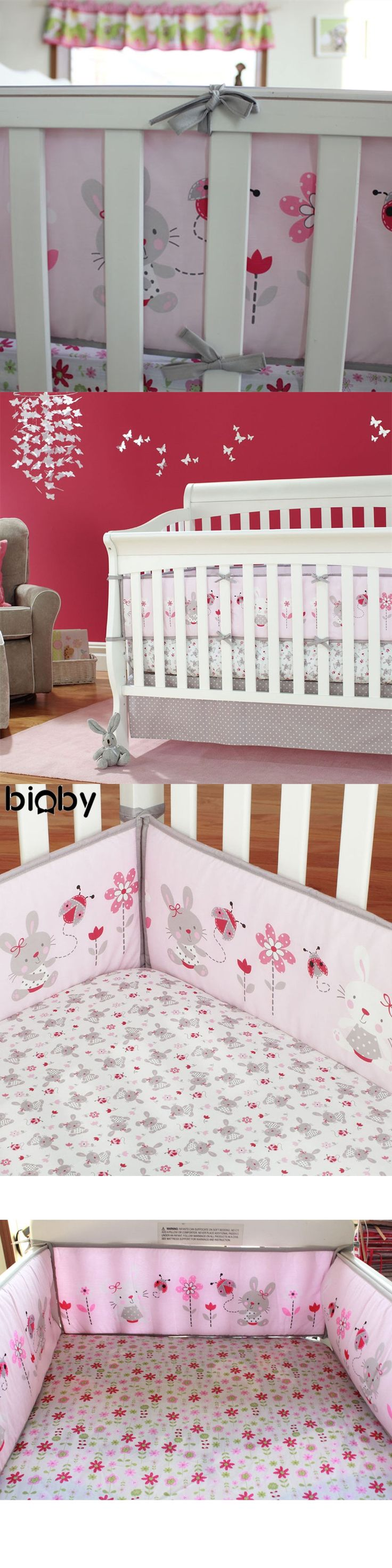 4Pcs/Set Rabbit Baby Infant Cot Crib Bumper Cotton Soft Safety Protector Toddler Nursery Cushion Baby Protect Bedding Set