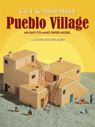Colorful scale model of an Indian village of the Southwest. Only scissors and glue needed for assembly. Several dwellings, free-standing figures, more. Simple instructions. Ideal classroom or home project.