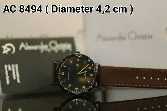 ALEXANDRE CHRISTIE 8494 Harga IDR 925.000 Material : Leather brown - ring full black Diameter 4,2 cm ( for men size ) Garansi mesin 1 tahun international