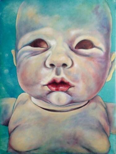 "Saatchi Art Artist Monica Spicciani; Painting, ""Bambolotto - Male doll"" #art"