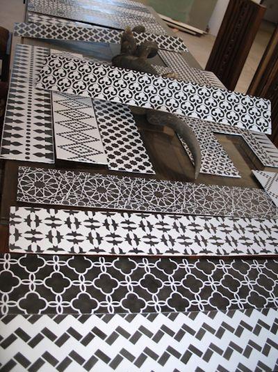 1000 id es propos de pochoirs muraux marocains sur for Pochoir a peindre sur mur