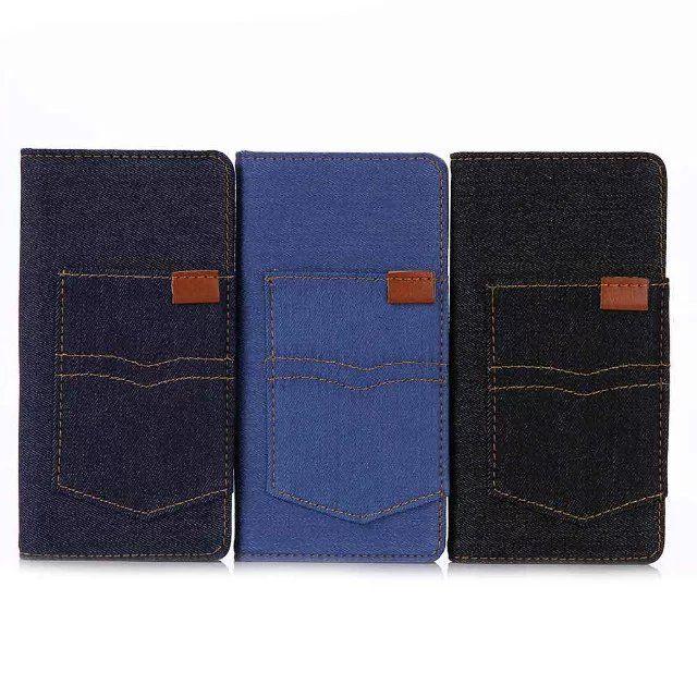 ブランドXperia X PerformanceケースiPhone SE/5s/5エクスペリアSony/ソニーデニム生地カード収納手帳型革製XPビジネス風男女ペアケースジーンズ