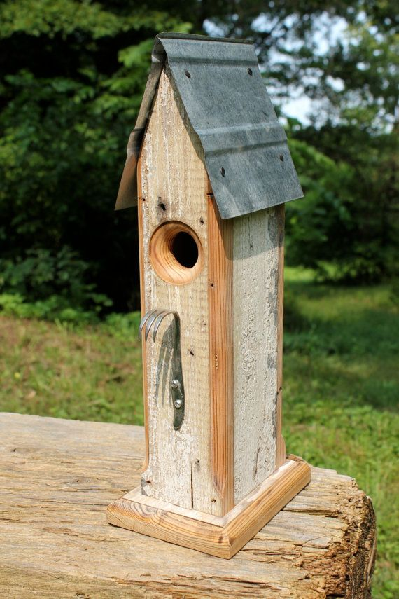 Rustic Birdhouse from Salvaged Materials with a