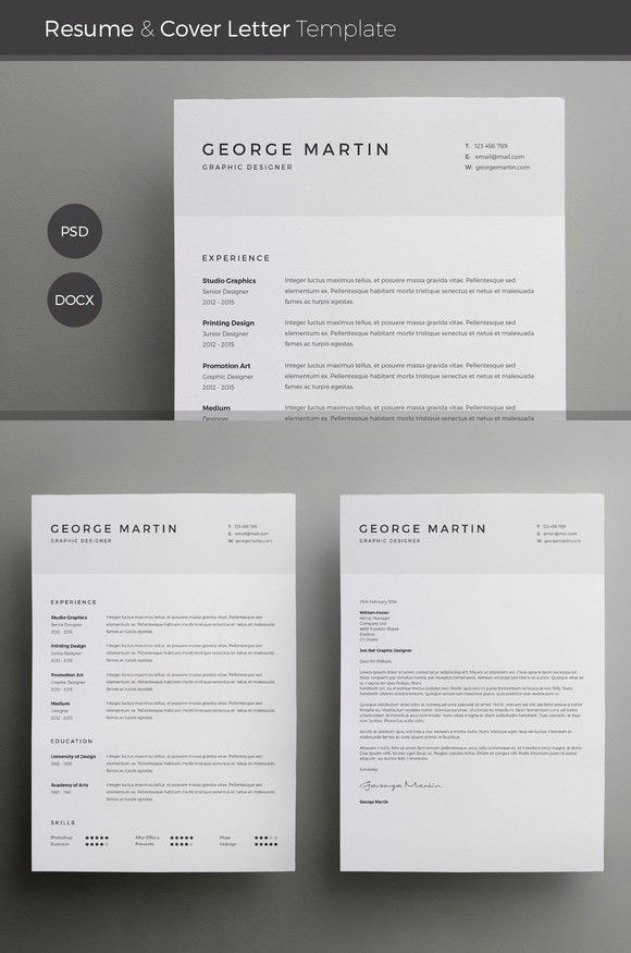 Word Resume u0026 Cover Letter Template 24
