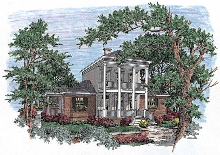 Neoclassical house plan with 2458 square feet and 3 for Home source com