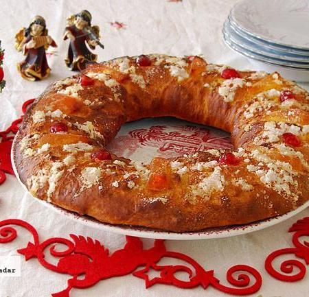 Roscón de Reyes sin huevo ni lácteos. Receta de Navidad