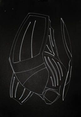 "Saatchi Art Artist Dominik Stein; Drawing, ""Black Design number 20111108"" #art"