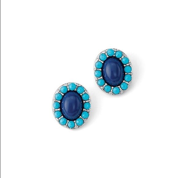 Pinch Earrings Blue Orchid Pierced post earrings. Turquoise and deep blue enamel flowers add just the right sunny note to your jewelry wardrobe. They'll brighten and outfit and - best of all- your mood! Lia Sophia Jewelry Earrings
