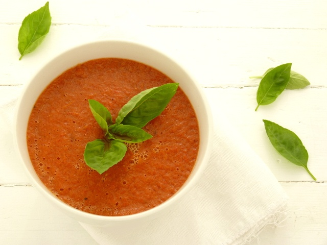 Sopa de tomate y pimiento asados / Roasted tomato and pepper soup