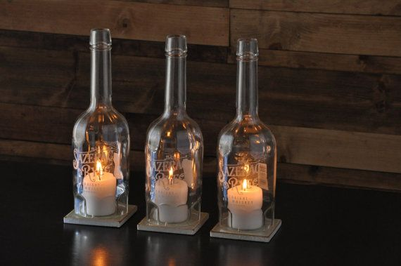 Recycled Bottle Candle Centerpiece Sazerac Rye by MoonshineLamp, $69.00