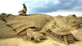 sand art: Sands Sculptures, Sands Castles, Art Sculpture, Sand Sculptures, Art Sands, Sandcastl, Cool Stuff, Sands Art, Scottish Terriers