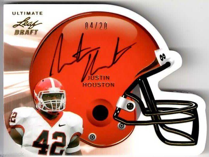 Justin Houston 2011 Leaf Ultimate Draft Rookie Helmet Autograph #6/49 RC AUTO