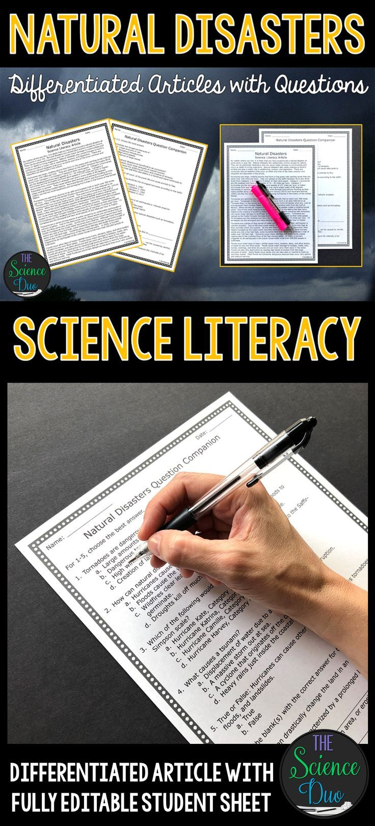 Natural Disasters - Science Literacy Article | You Rock My