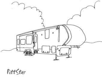 5th Wheel Travel Trailer Coloring Pages