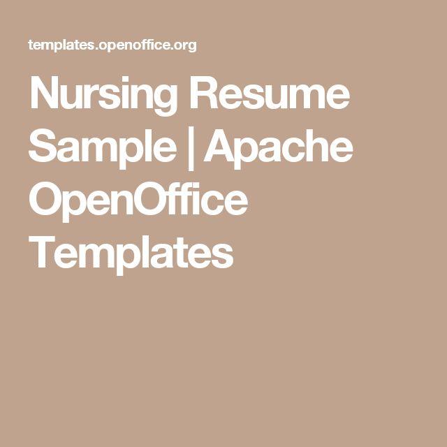nursing resume sample apache openoffice templates - Resume Templates For Openoffice
