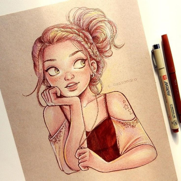 Repost from @cassandracalin  Here's another quick drawing. I gotta say toned paper is pretty neat! Have a great week everyone! via http://instagram.com/ladyterezie