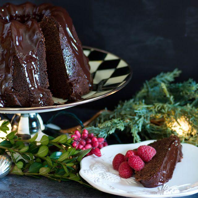 Savoring Time in the Kitchen: Chocolate Espresso Bundt Cake with Chocolate Whiskey Ganache