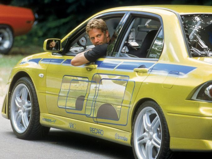 picture of paul walker in his famous movie fast and furious