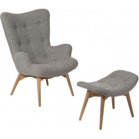 Wygodny fotel Contour z podnóżkiem