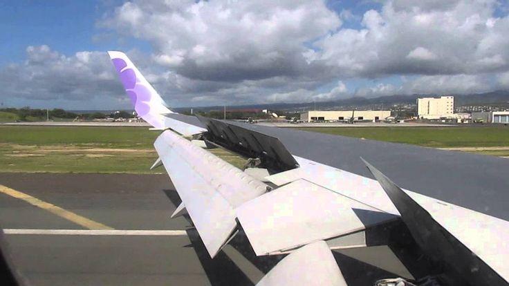 Hawaiian Airlines 767 - Landing at Honolulu International Airport (SMF-HNL)