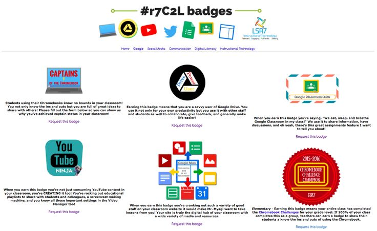 Use CANVA to Create INSTRUCTIONAL BADGES for Teachers and Staff: https://sites.google.com/a/lsr7.net/badges/google