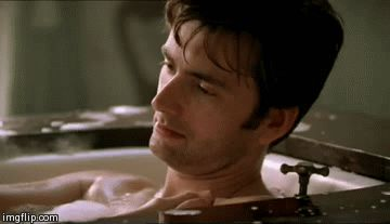 David Tennant plus water equals, well, you can figure it out.