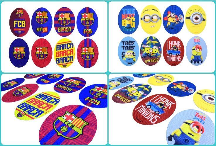 ¡Novedad! Repara o customiza la ropa de los peques con los parches de los Minions y del Barça.  #fcb #barça #minions #DIY #customizaturopa #coderas #rodilleras #merceríacreativa #merceríaonline