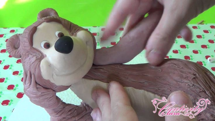 Tutorial masha and the bear cake topper masha e l'orso torte pasta zucch...