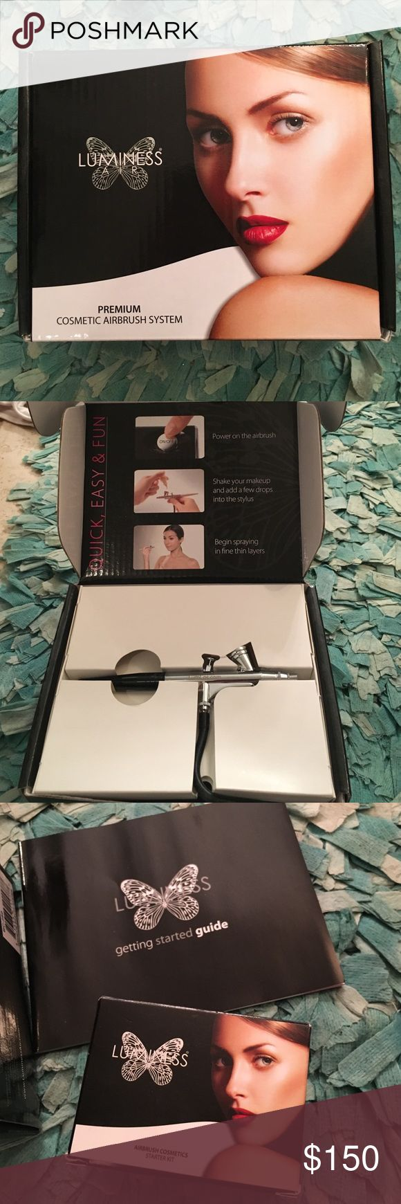 Brand new Luminess airbrush kit.  Never used Brand new, never used, perfect condition luminess air brushing machine. Makes your skin look totally amazing! Includes DVD step-by-step instructions, includes a starter kit with foundation colors and primers, blush, Brightening glow, moisturizer and bronzer luminess Makeup