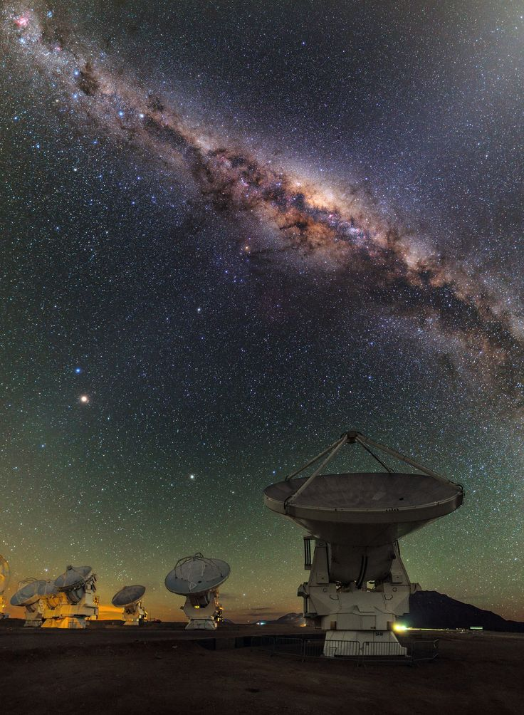 ALMA and the centre of the Milky Way. San Pedro de Atacama, Chile.