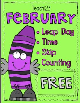 Free Leap Year:  Leap year themed printables: --3 Leap Year Morning Messages --Leap Day Book List --Beginning, Middle, End wksh --Reading passage: history of calendar --Reading passage: Time & Money --Word Work: making words - calendar --Calendar: February --Skip counting: 4's