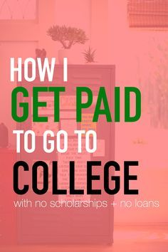 "student loans weighing you down? debt piling up? not for me! I've chosen a college path that actually GIVES me money to attend. I'm a millennial trying to save as much money as I can before ""real life"" starts, so here's my story on how I get paid to go to college."