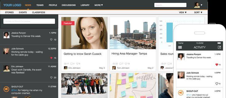 Jostle's Social Intranet Portal