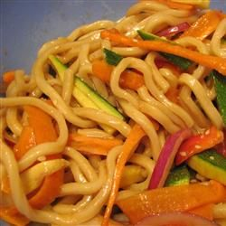 Shanghai Noodle Salad. So yummy! And you can make extra of the sauce to marinate chicken in to put on top.