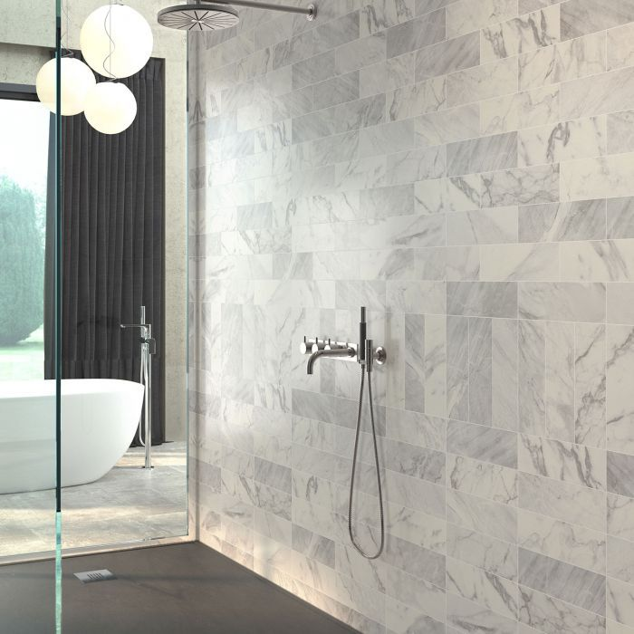Carrara Matt White Marble Effect Wall Tile Wall Tiles Luxury Tile Marble Effect