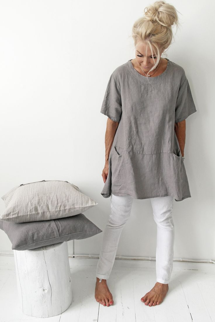 BOHEMIANA Linen Tunic / @bypiaslifestyle www.bypias.com                                                                                                                                                      More