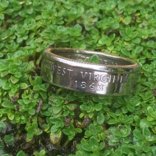 After a few weeks of working out the kinks they are finally here. My extremely talented family brought these handcrafted West Virginia Quarter Rings to life! What do you think? Buy now: http://our-wv.com/souvenirs-and-seasonal/seasonal-and-souvenir-artistans/loving-wv-en/west-virginia-quarter-ring/