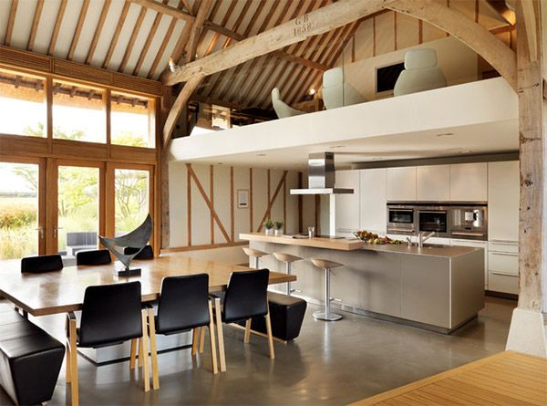 Mezzanine designs in slanted ceiling homes